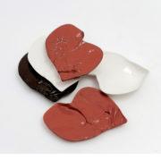 Higado small flat plate, red black white