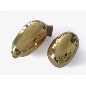Testis salt-peper shakers -gold