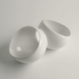 petal bowls white 3-4 view