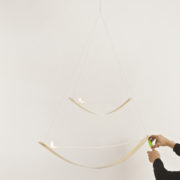 2 Bow double Suspended lighting hands